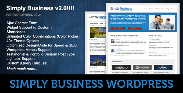 Simply Business - Wordpress - Business Corporate