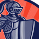 Knight With Armor and Sword Retro - GraphicRiver Item for Sale
