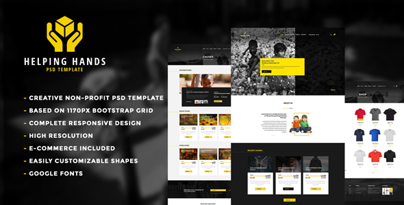 Helping Hands – Multipurpose Non-profit PSD Template