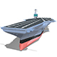 Lowpoly Aircraft Carrier  - 3DOcean Item for Sale