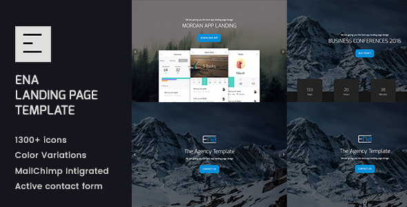 ENA - Landing page template - Corporate Site Templates