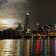Chicago Skyline Reflected on the Lake at Sunset 4K - VideoHive Item for Sale