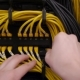 Hands Plug In The Ethernet Cable - VideoHive Item for Sale