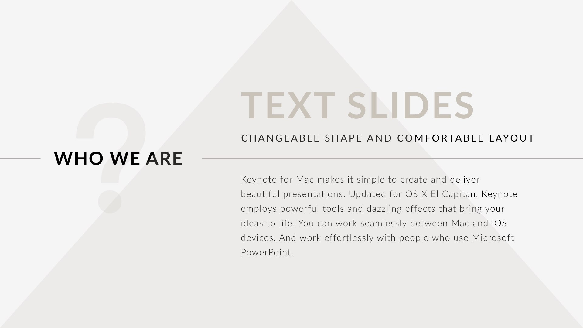 Triangle Clean Trend Keynote Template By 5yue Graphicriver