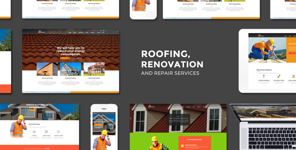 Roofing, Renovation & Repair Service - Business Corporate
