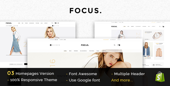 Focus – Responsive WooCommerce WordPress Theme
