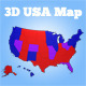 3D USA Election Map - 3DOcean Item for Sale