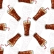 Seamless Pattern Cola Scetch And Color - GraphicRiver Item for Sale