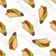 Seamless Pattern Taco Scetch And Color - GraphicRiver Item for Sale