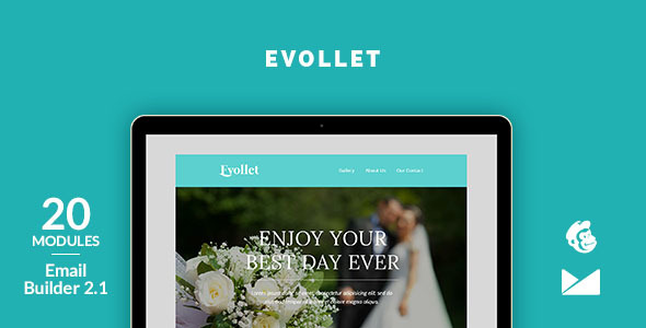 Evollet Email Template + Online Emailbuilder 2.1 - Newsletters Email Templates