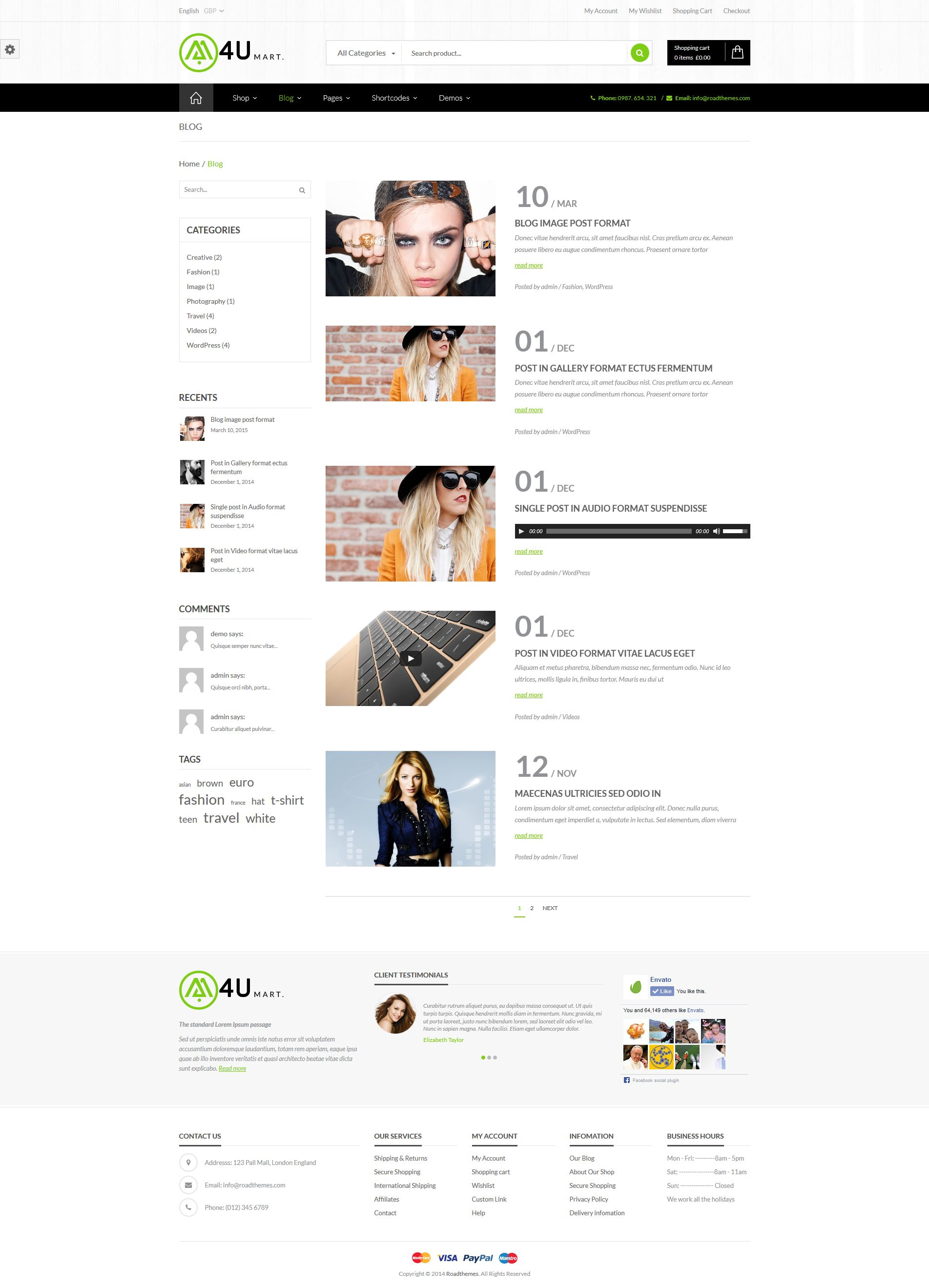 M4U - Multi Store Responsive WordPress Theme by roadthemes | ThemeForest