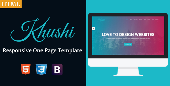 Khushi – Responsive One Page Template