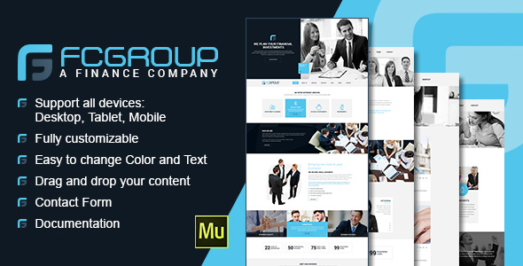 Finance Group - Multi Purpose Muse Theme - Corporate Muse Templates