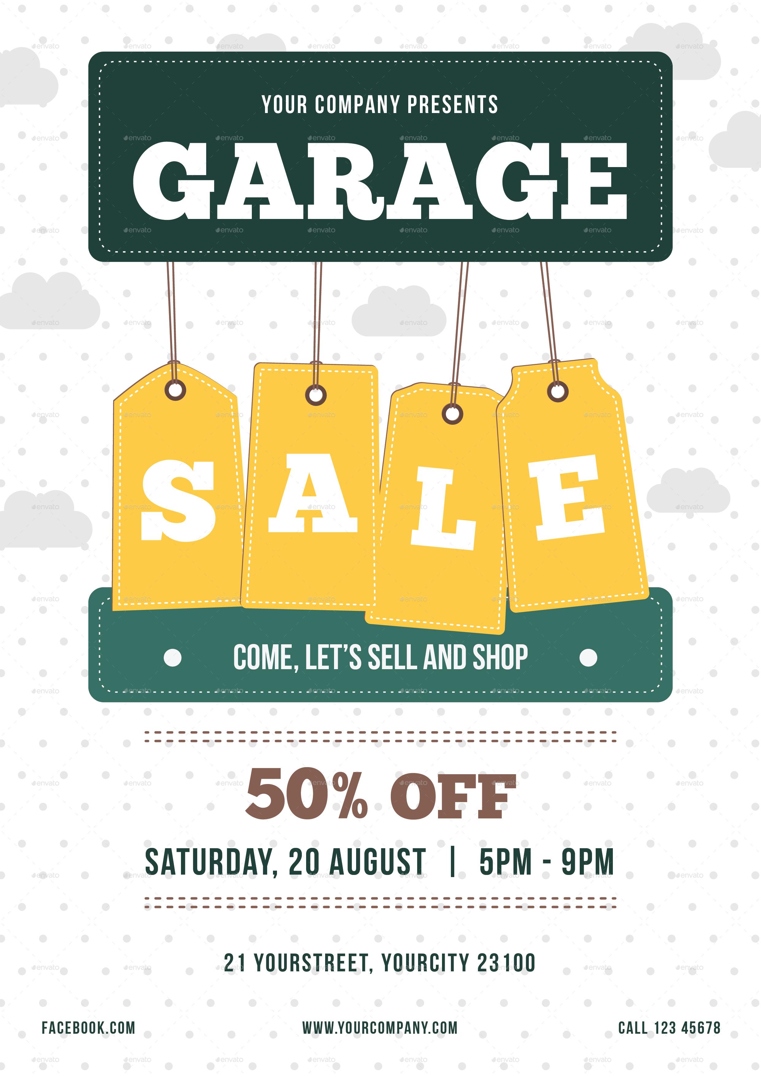 Garage Sale Flyer Vol01 01