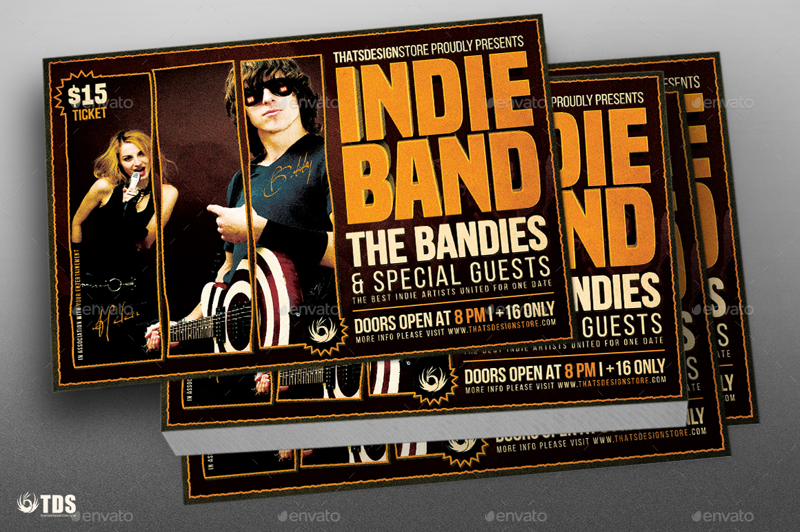 Indie Band Flyer Template By Lou606 Graphicriver