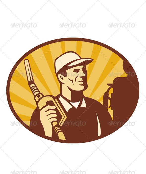 Gas Joceky Attendant Retro Style - People Characters