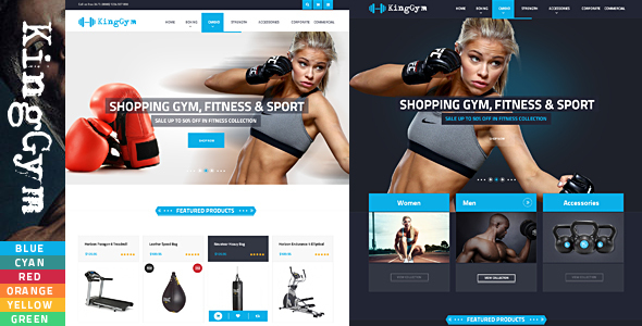Kinggym - Fitness, Gym and Sport eCommerce Template - Health & Beauty Retail
