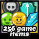 256 Vector Game Items - GraphicRiver Item for Sale