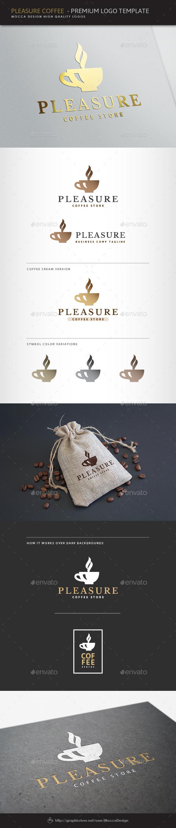 Pleasure Coffee Logo - Food Logo Templates
