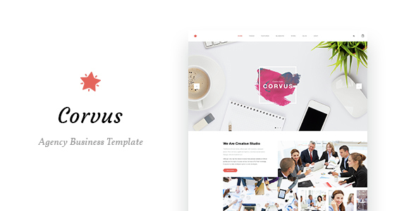 Corvus - Agency Business HTML Template - Business Corporate