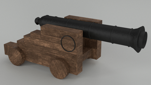 Naval Cannon (PBR, UV-textured) - 3DOcean Item for Sale