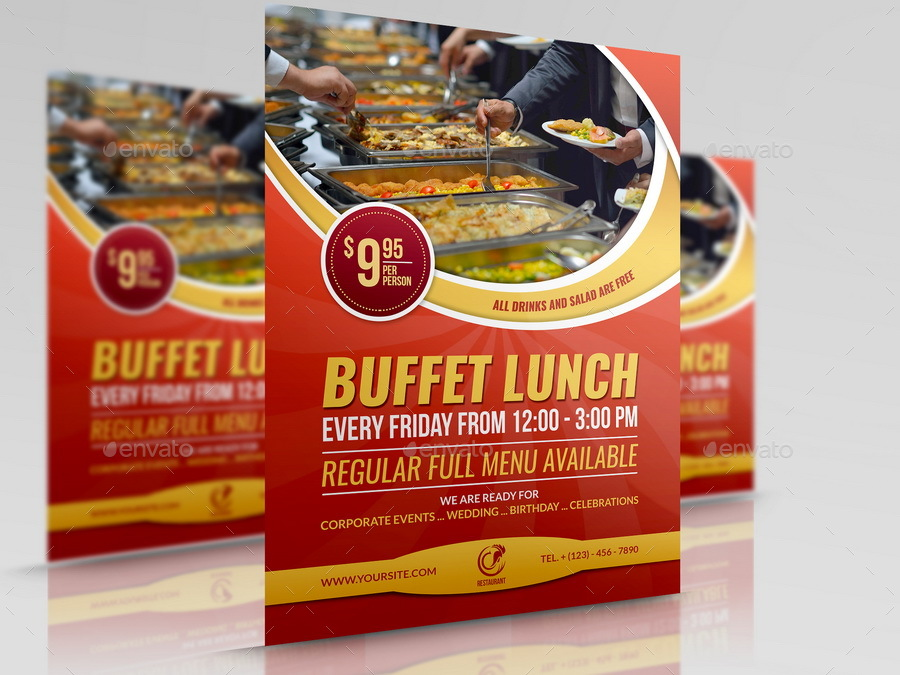 Restaurant Flyer Template Vol By Owpictures  Graphicriver