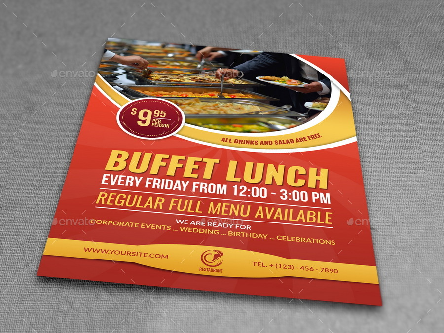 Restaurant Flyer Template Vol11 by OWPictures – Lunch Flyer Template