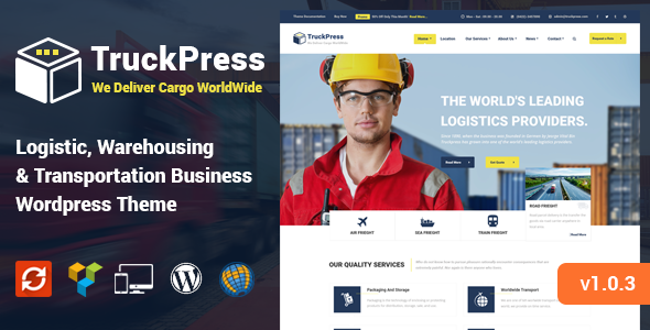TruckPress - Warehouse, Logistics & Transportation WP Theme - Business Corporate