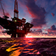 Oil Rig at Sea - VideoHive Item for Sale