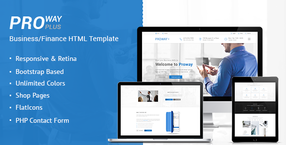 ProWay Plus - Business, Finance HTML Template