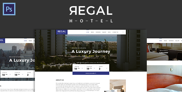 Regal – Hotel PSD Template