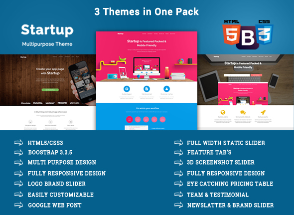 Startup – Responsive Startup Landing Pages