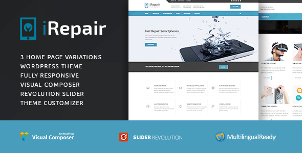 iRepair –  Repair WordPress  Theme