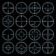 crosshairs vector set - GraphicRiver Item for Sale