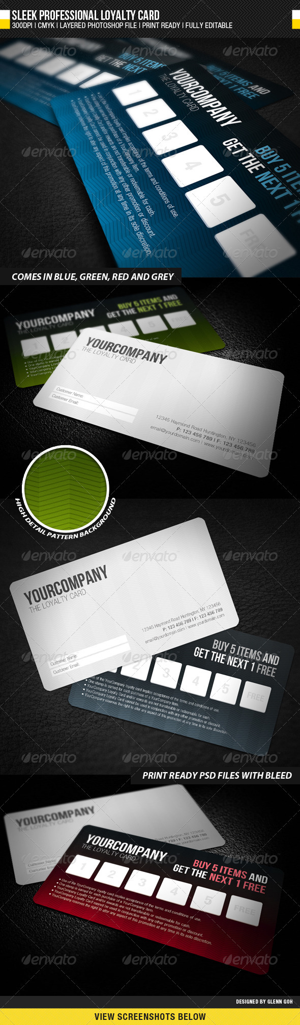 Sleek Professional Loyalty Card - Loyalty Cards Cards & Invites