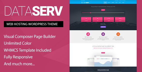 Dataserv – Professional Hosting WordPress Theme + WHMCS Template