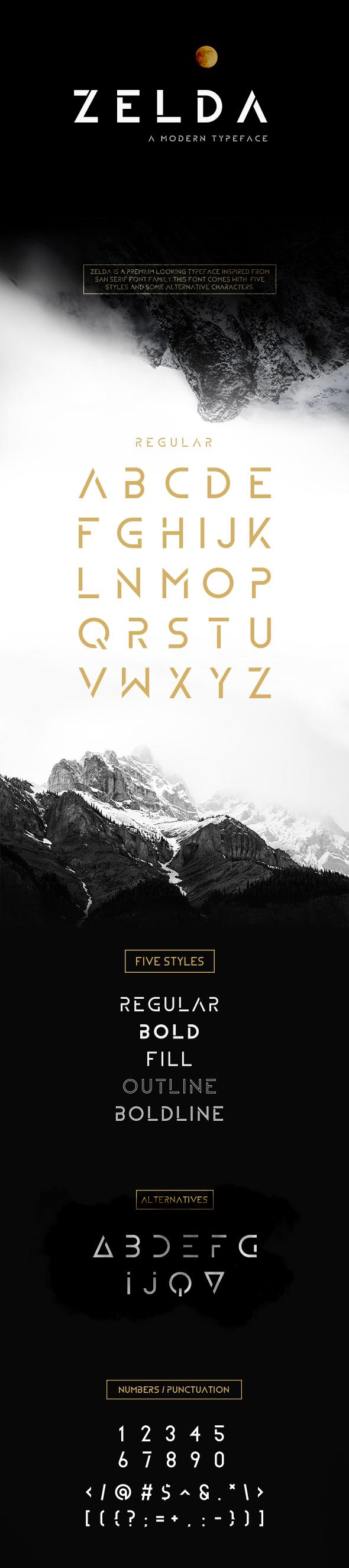ZELDA Typefamily - Sans-Serif Fonts
