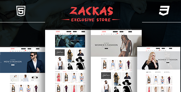 Zackas – eCommerce Fashion Template