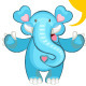 Blue Elephant Welcoming - GraphicRiver Item for Sale