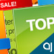 Rainbow color 10 Web Banners  - GraphicRiver Item for Sale