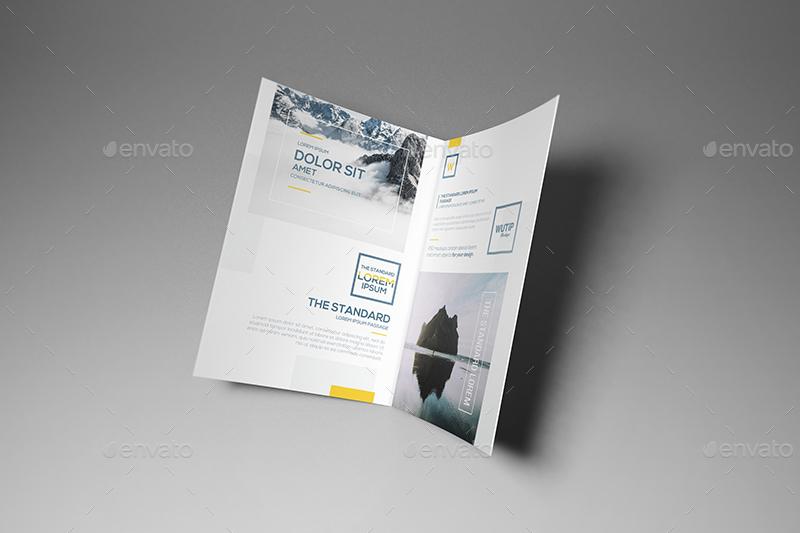 11 Bi Fold A5 Brochure Leaflet Mockups