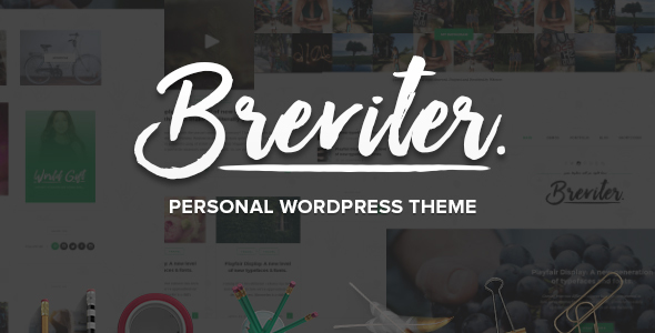 Breviter Pro – handcrafted blog WordPress theme