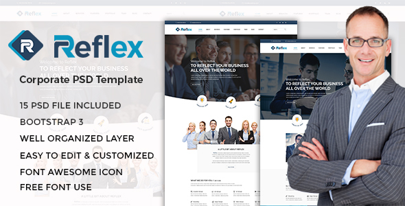 Reflex - Corporate PSD Template - Corporate PSD Templates