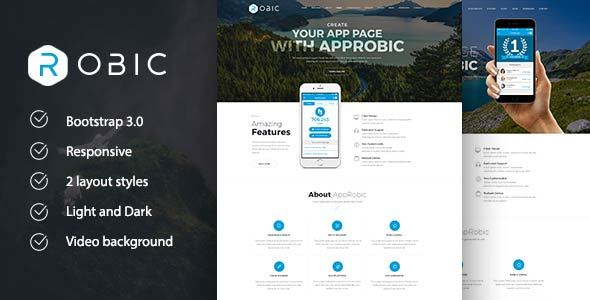 Robic – WordPress Landing Page Theme