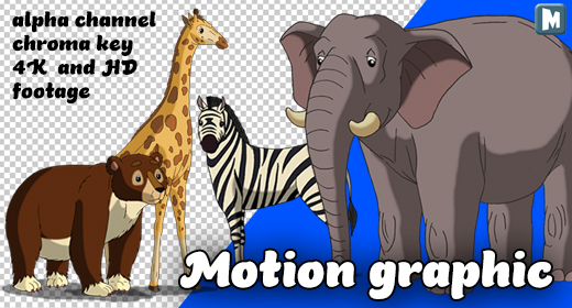 Animals Alpha Matte Motion Graphic