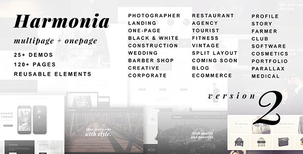 Harmonia – Creative Multi-Purpose WordPress Theme