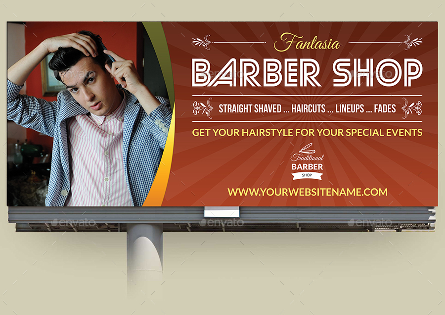 barber shop advertising bundle by owpictures
