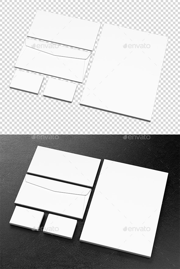 Business Template - Objects 3D Renders