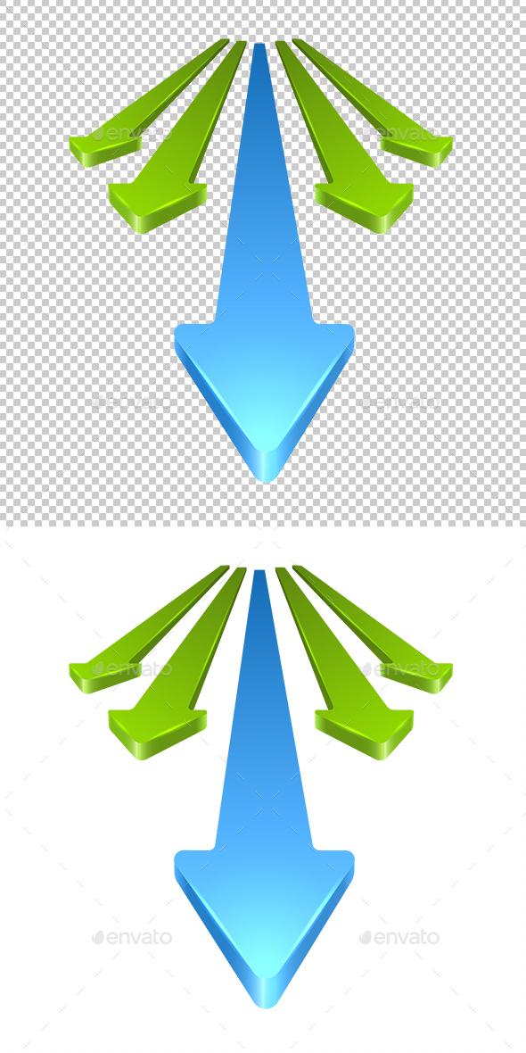 3D Arrows - Concepts Business