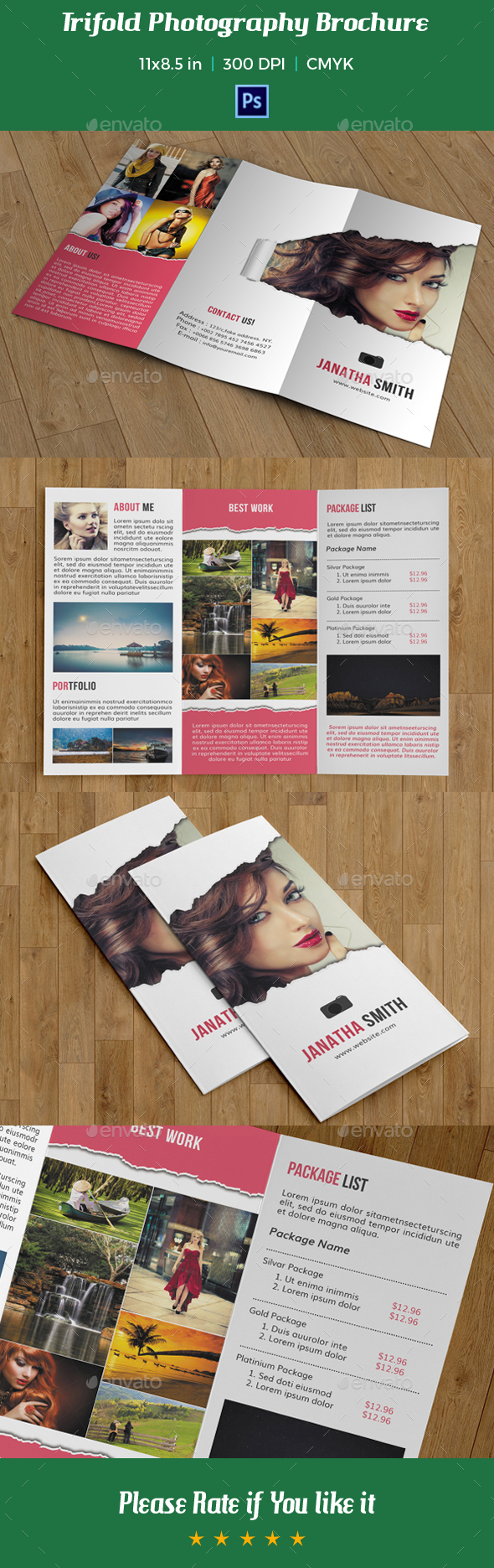 Trifold Photography Brochure Template V09 By Azgraphics Graphicriver